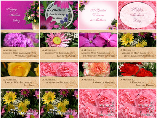 Christian Backgrounds - Mothers Day Titled Backgrounds